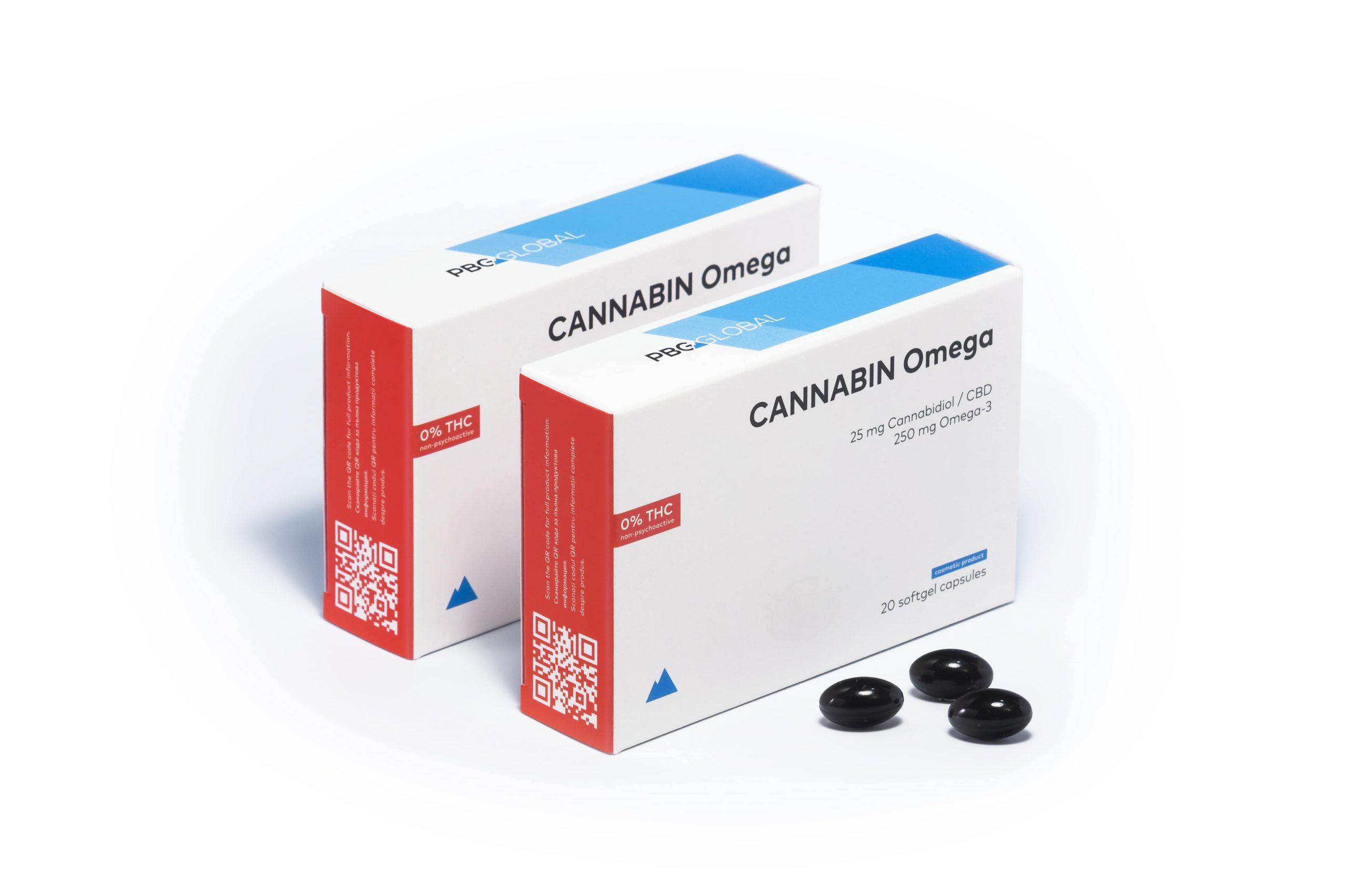 CANNABIN Omeg CBD gel caps 500 mg