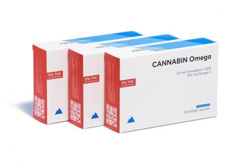 CANNABIN Omeg CBD gel caps 500 mg