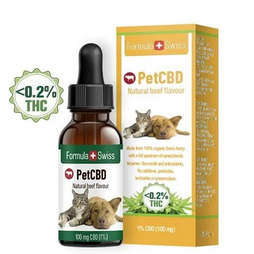 CBD масло за животни 3% с аромат на телешко FormulaSwiss
