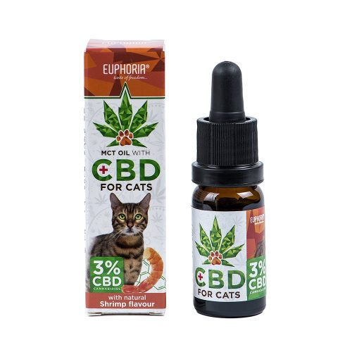 CBD масло за котки със скариди 3%